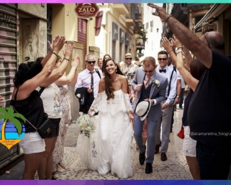 Photo Ana Marielina of Malaga city wedding just married couple