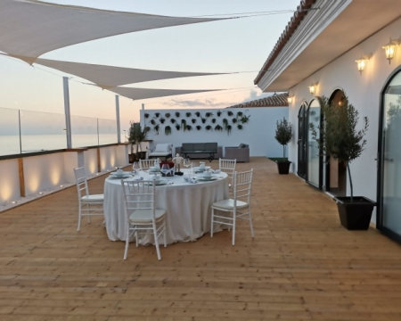 Picturesque Mediterranean sunsets on the terrace at PLAY
