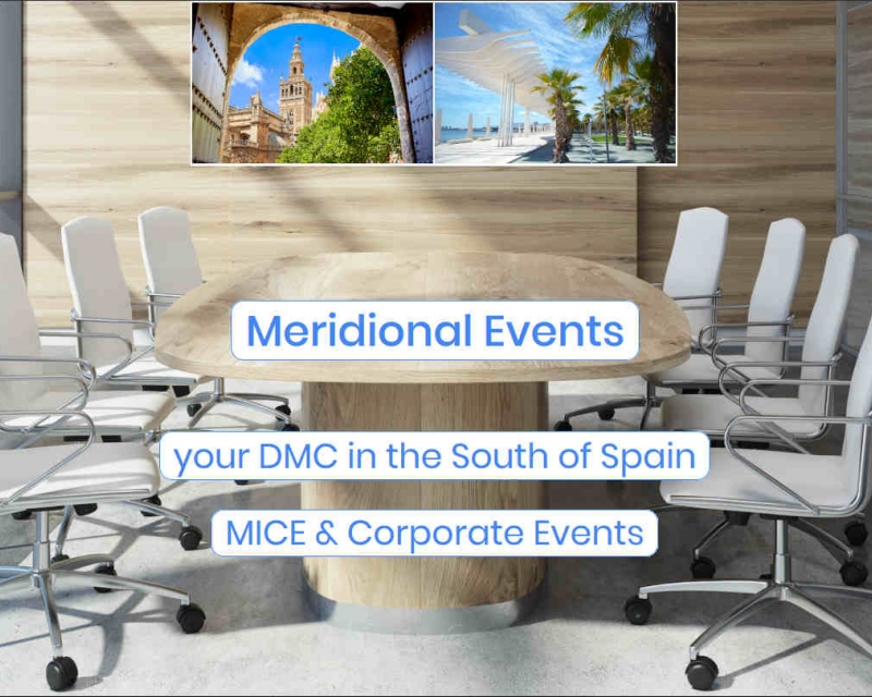 Office with chairs in a sunny corporate environment. Main picture for Meridional Events